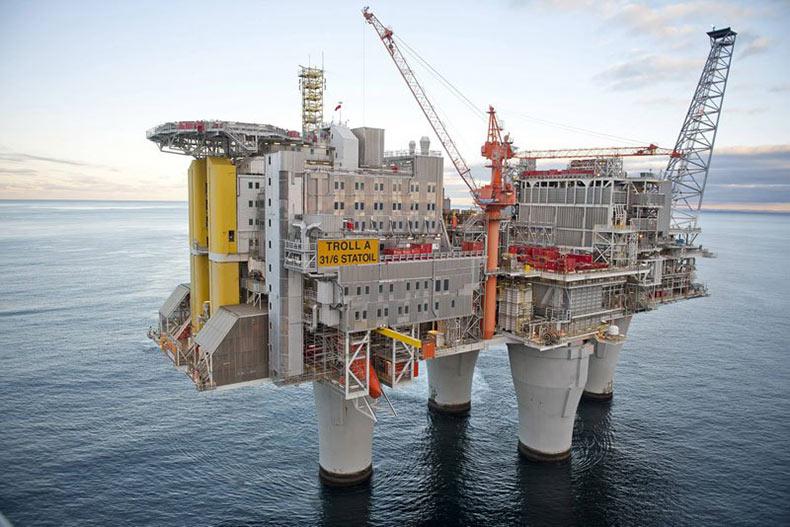 Troll A, la plataforma de gas mas enorme del planeta