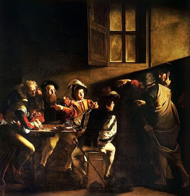 The Calling of Saint Matthew - Caravaggio   Matthew 9:9