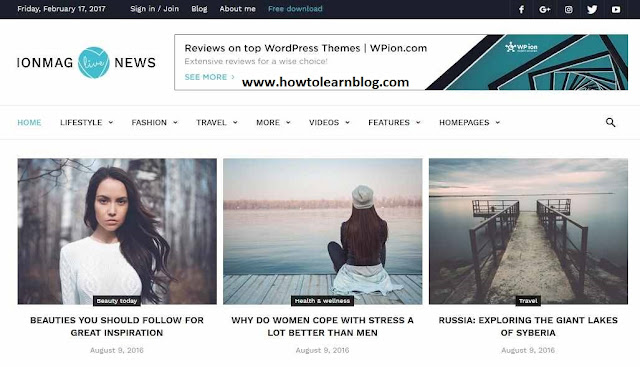 ionMAG WordPress Themes has responsive, SEO friendly, mobile friendly, high quality, related post widget, stylish, simple, dynamic, popular post, recent post, social share buttons, responsive menubar, submenu bar and author box features.