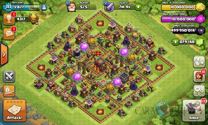Desain Base Pertahanan Terbaik Untuk Base War TH 10 Update Terbaru 19