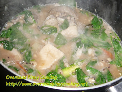 Baboy at Langka with Black Eyed  Peas - Cooking Procedure