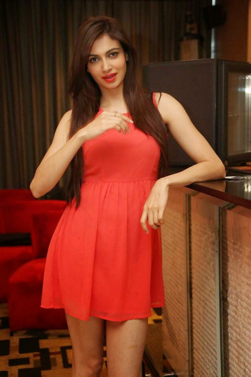 Simran Kaur Mundi Latest Photo Gallery, Simran Kaur Mundi Long Legs hot Pics in Red short Dress & Boots
