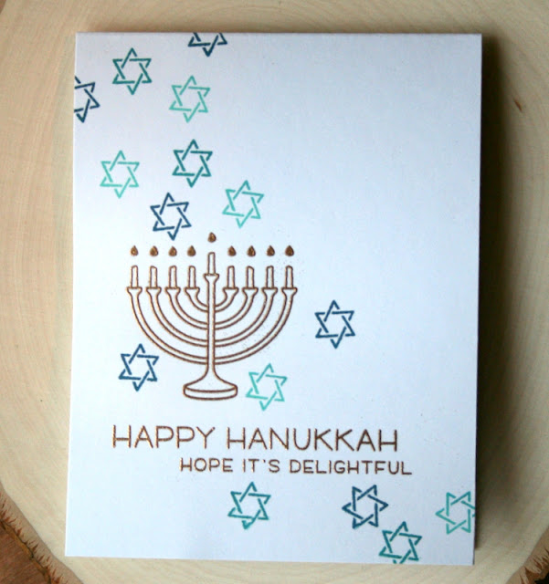 Hanukkah Card by Jess Gerstner featuring Lawn Fawn Love You a Latke