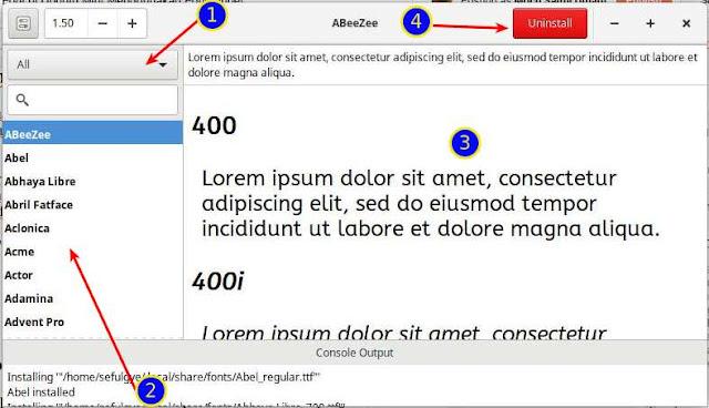 Font Finder Linux to Install Google Fonts