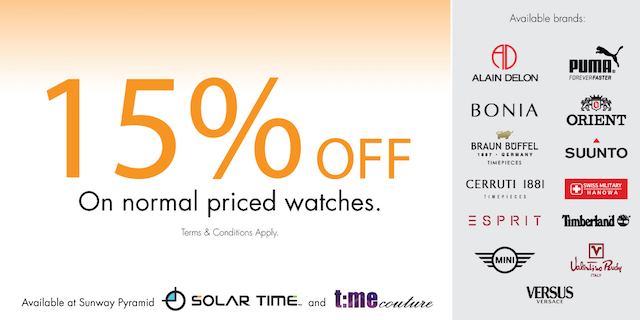 Solar Time (15% OFF on Normal Priced Watches)