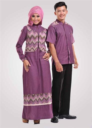 21 Model Baju Muslim Couple Modern Terbaru 2017 2018