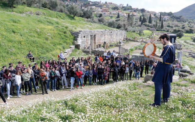 750 Ιταλοί μαθητές γνώρισαν την Αρχαία Μεσσήνη, τις Μυκήνες και την Επίδαυρο