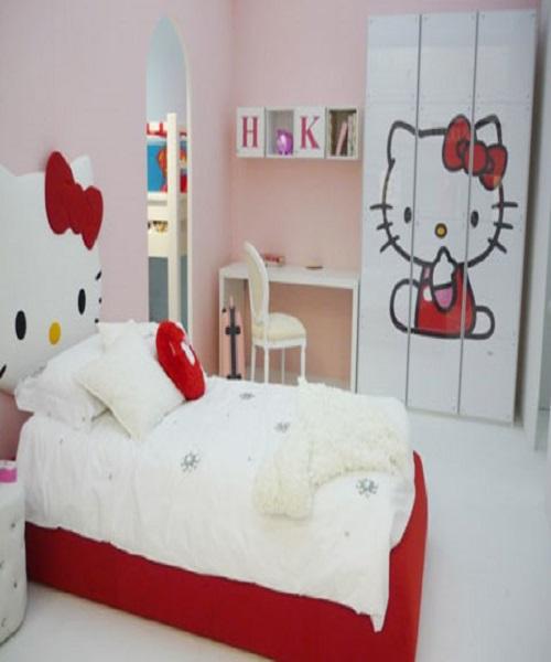 Idee déco chambre fille - Décoration enfant Hello kitty