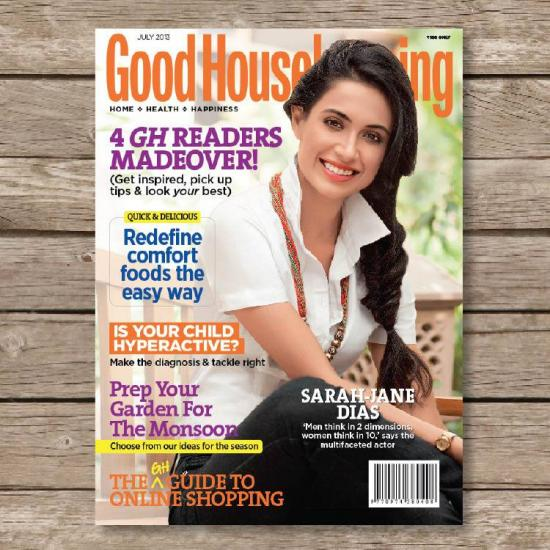 Sarah Jane Dias on the cover page of Good Housekeeping