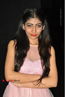 Actress Nidhisha Reddy Pos in Beautiful Pink Dress at Virus Telugu Movie Audio Launch .COM 0015.JPG