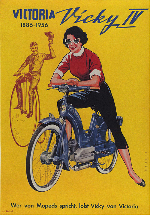 Victoria, Vicky IV - Vintage Motorcycle Poster, advertising, classic posters, free download, free posters, free printable, graphic design, motorcycle, printables, racing, retro prints, vintage, vintage posters, vintage printables