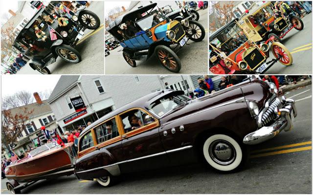 Coches del Desfile de Acción de Gracias en Plymouth