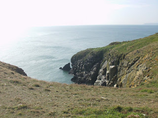 At Lambay, looking toward the wrecksite