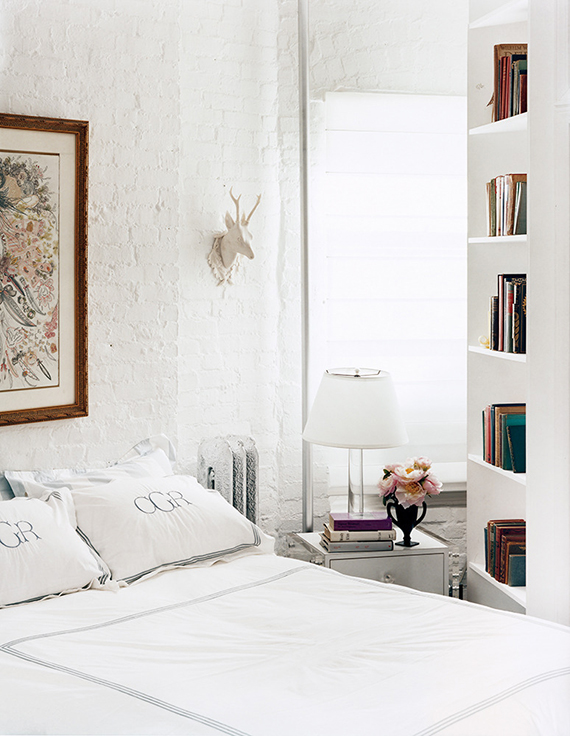 Small cozy white bedroom. Image by Douglas Friedman via Domino