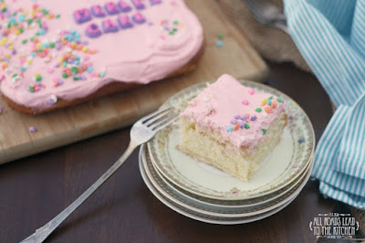 Merle's Cake with Pink Frosting