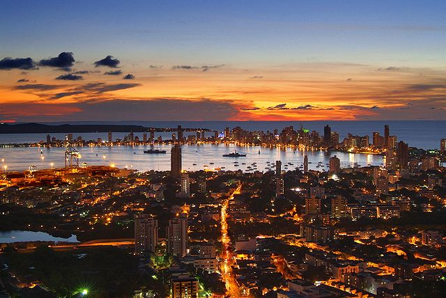 Sunset view of Cartagena, Colombia