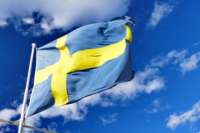 Schwedenflagge, flagge, schweden, fahne, himmel