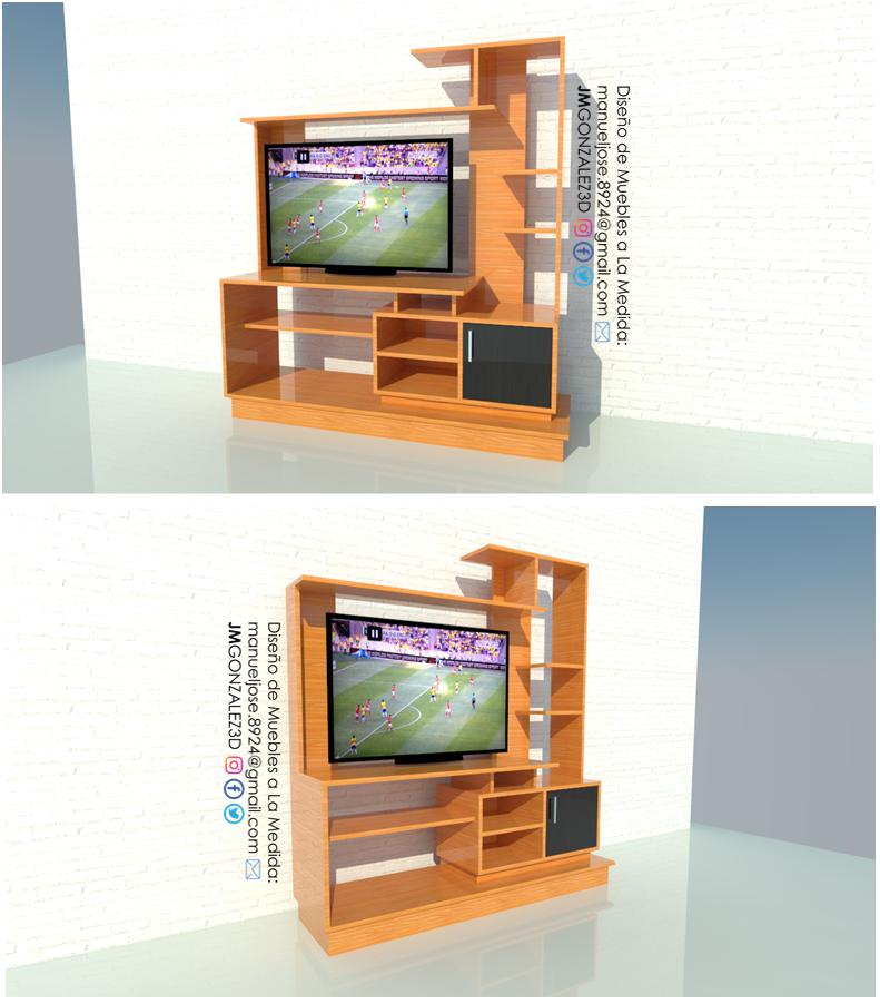 Dise o de muebles madera construir mueble de tv living - Diseno de muebles de tv ...