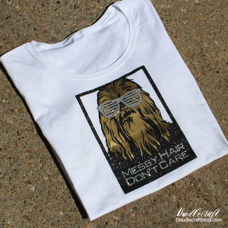 Star Wars Chewbacca 'Messy Hair Don't Care' DIY Shirt with