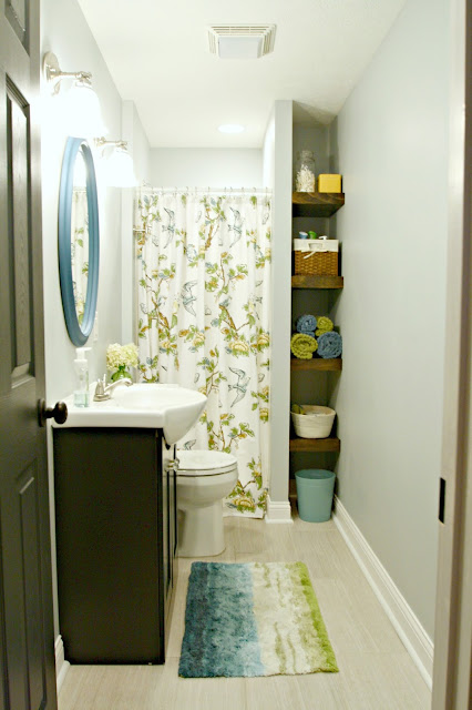 Bright basement bathroom