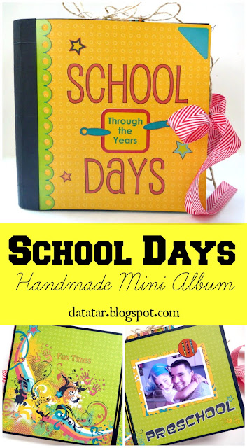 Moxxie School Days DIY Preschool Through Grade 12 Mini Album by Dana Tatar