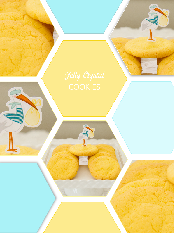Gluten Free Jelly Crystal Cookies Recipe - via BirdsParty.com