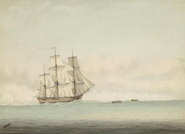 HMS Endeavour, por Samuel Atkins