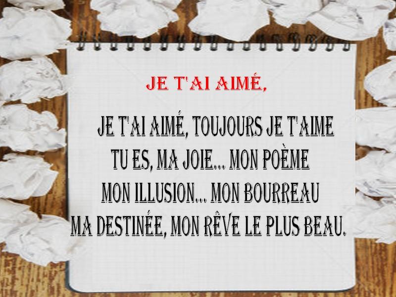 Favori Messages et SMS 2018: poèmes d'amour en images VT31