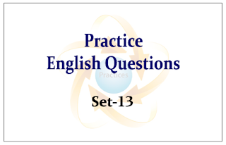 Practice English Questions for Upcoming Bank PO and Clerk Exams 2015 Set-13