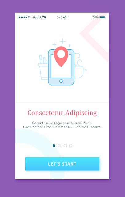 App Intro Slider Design Inspiration