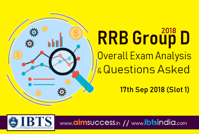 RRB Group D Exam Analysis 17th Sep 2018 & Questions Asked (Slot 1)