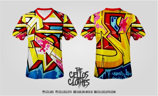 Jersey Full Printing - Jersey Bandana - Jersey Komunitas - Jersey Graffiti - Jersey Artwork - Jersey Motif - Jersey Design - Jersey Costum