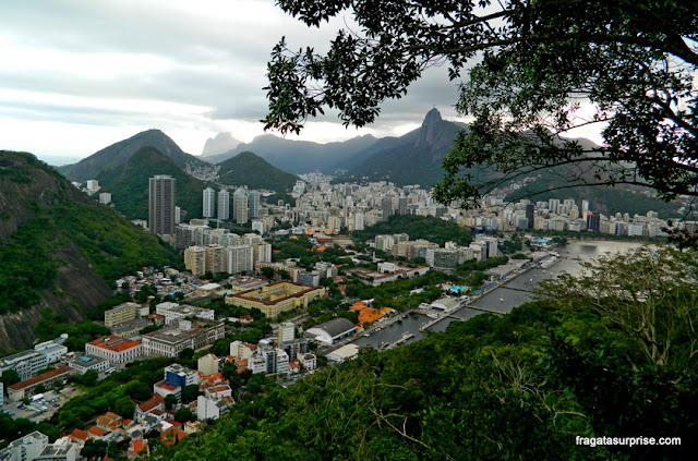 Biarro de Botafogo visto do alto do Morro da Urca