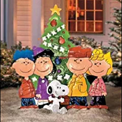Outdoor Metal Christmas PEANUTS CHARLIE BROWN & FRIENDS Yard Art Display Decor #christmastimeishere #christmasmusic #learnyourchristmascarols #christmasdecor #charliebrownchristmas available on Amazon