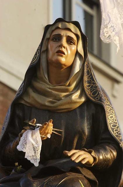 La Dolorosa de El Descendimiento. Real cofradía de Minerva y Vera Cruz. León. Foto Mauricio Peña