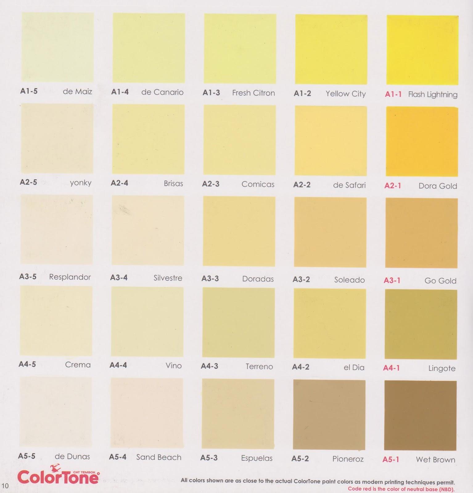 Kartu Warna Cat Tembok Colortone INFO HARGA BAHAN BANGUNAN