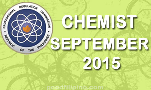 September 2015 Chemist PRC Board Exam Results - List of Passers (September 2015)