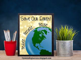 Earth Day recycle poster printable classroom decor