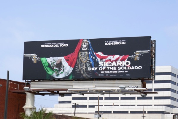 Sicario Day of Soldado movie billboard