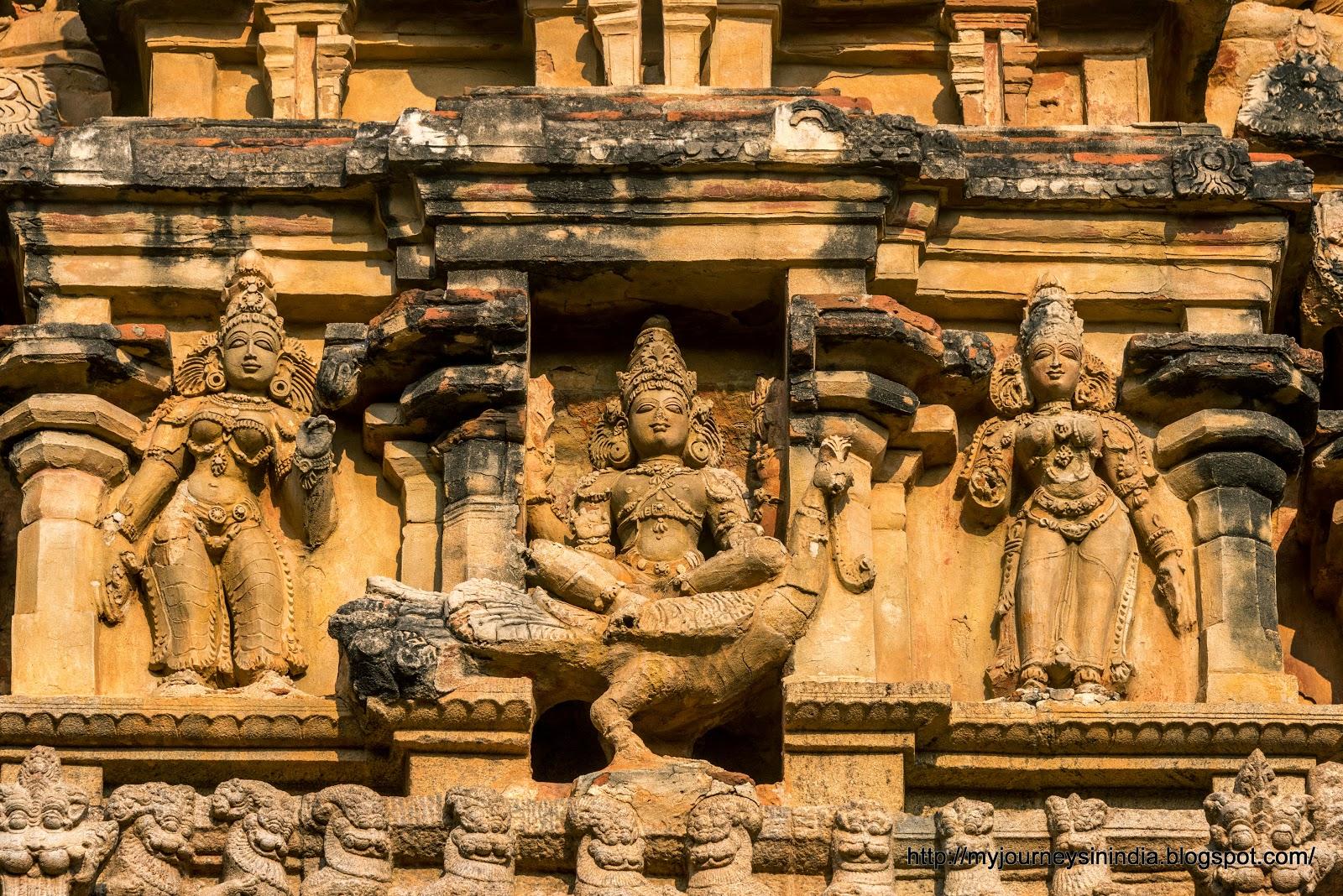 Thanjavur Brihadeeswarar Temple Tower Subramanya Valli Deivanai