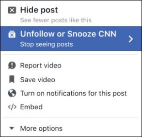 فيسبوك تختبر زر الغفوة لتجاهل الاشخاص والصفحات المزعجة