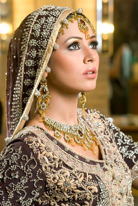 Bridal Dresses And Bridal Makeup Pakistani Indian Dress Mehndi