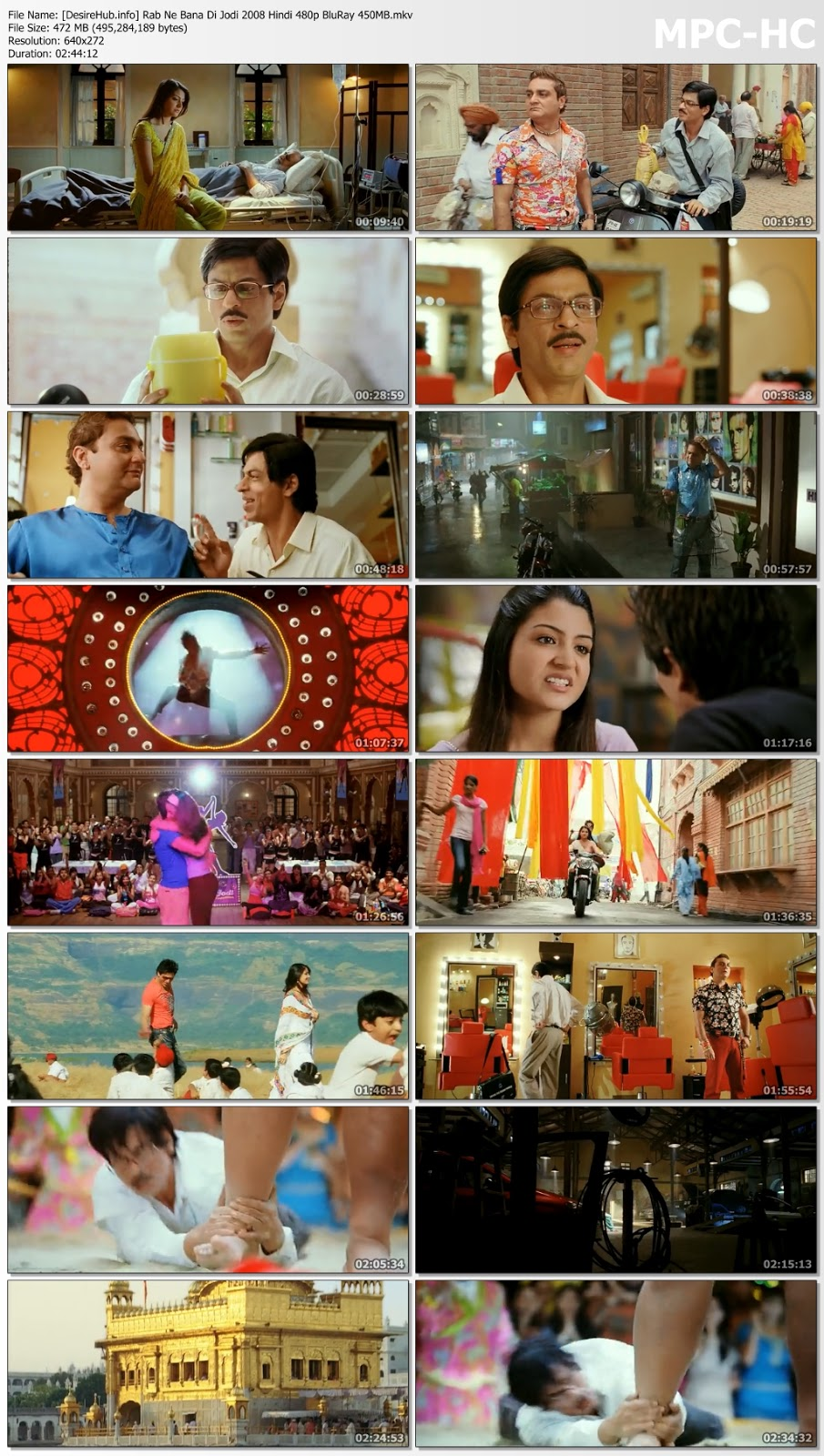 Rab Ne Bana Di Jodi (2008) Hindi 480p BRRip 450MB Desirehub