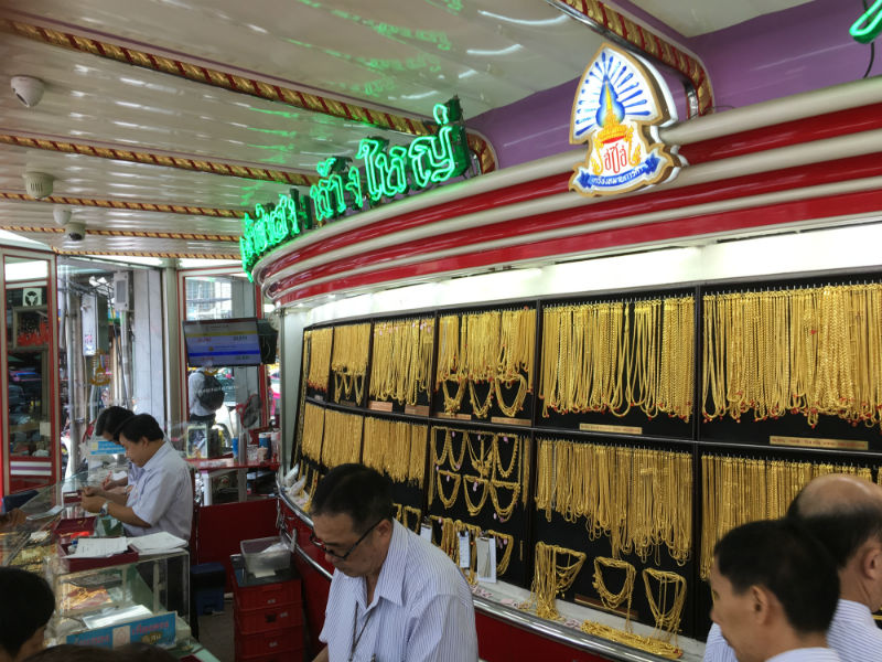 Kultakauppa Thaimaassa