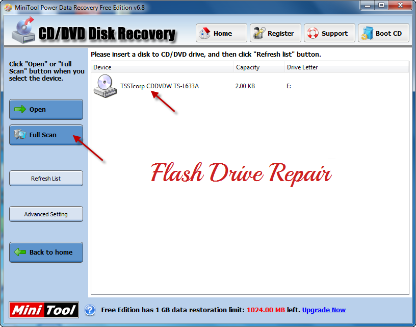How to recover Deleted files from CD/DVD using Minitool Power data recovery