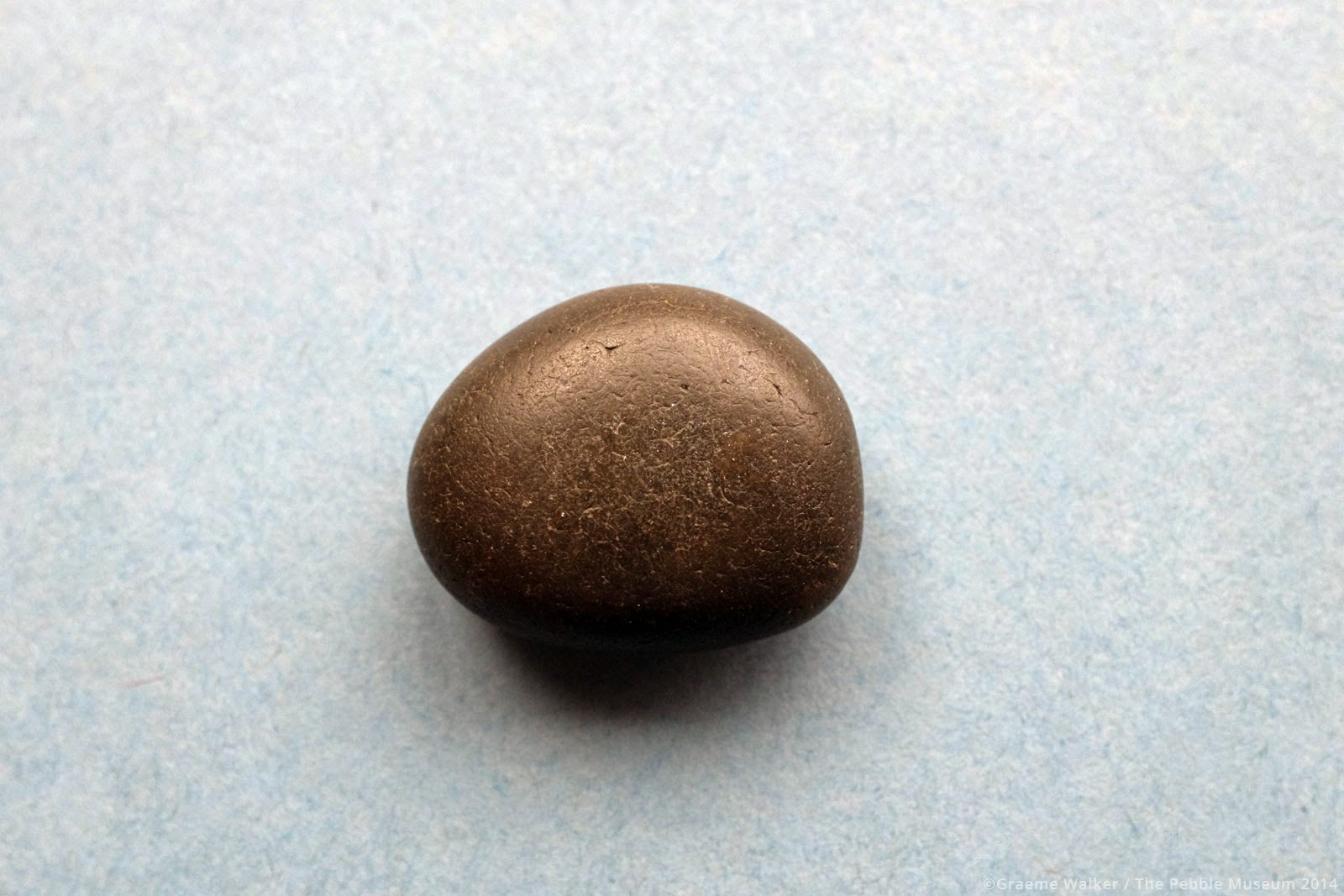 Smooth Black Pebble © Graeme Walker / The Pebble Museum 2019