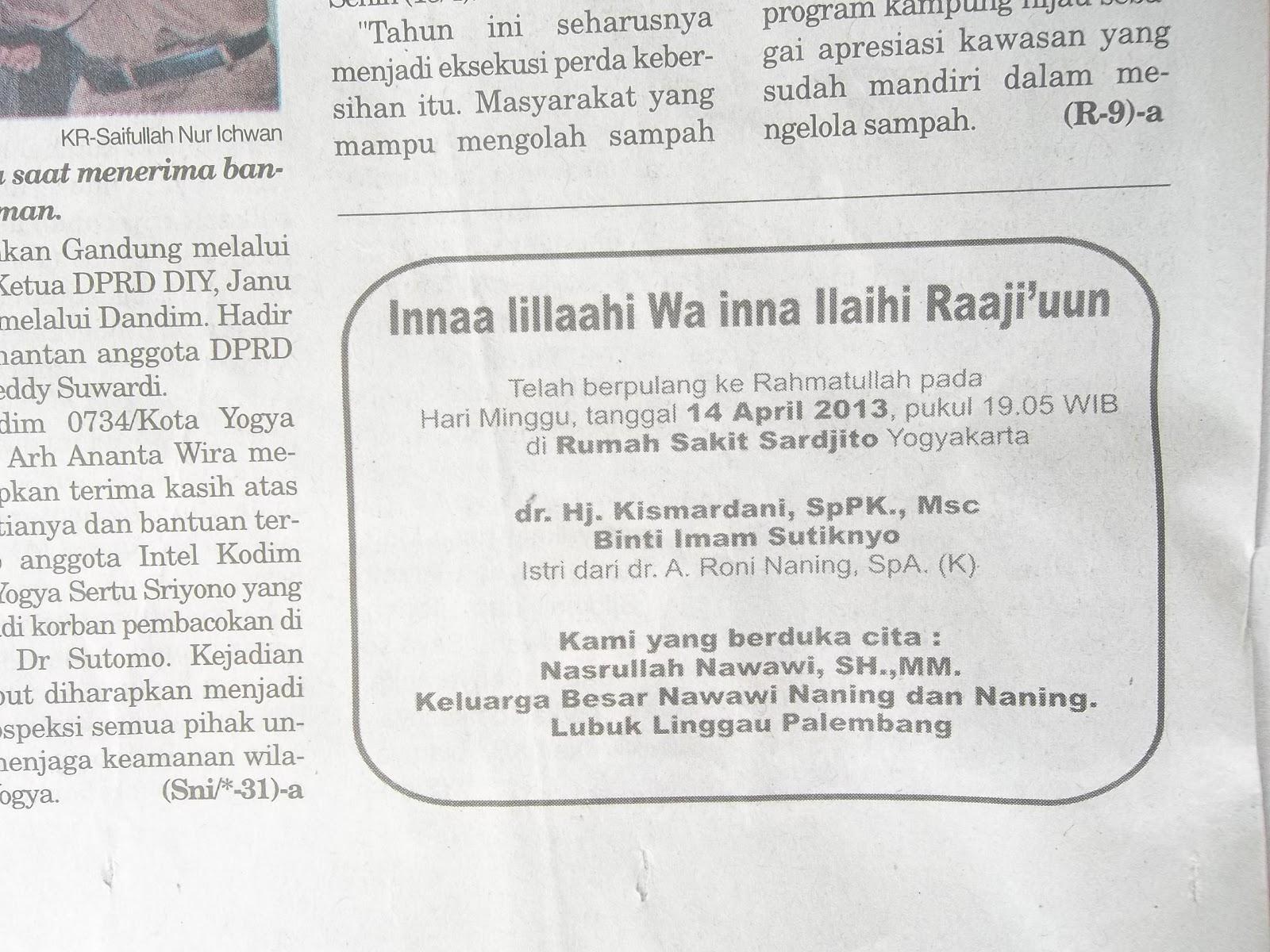 Blackpapers Fenomena Iklan Duka Cita Pada Koran