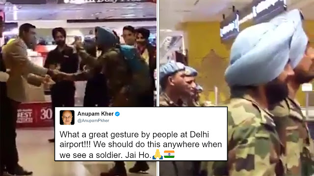 Indian Army Gets a Rapturous Applause at Delhi Airport