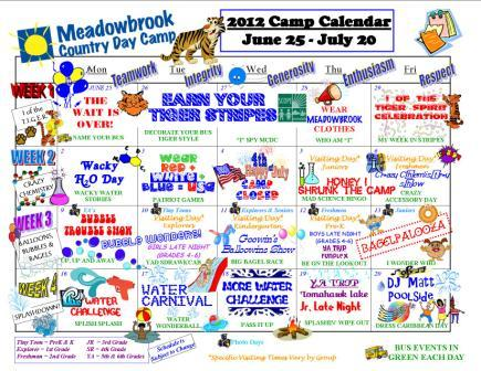 Calendar  Food Theme