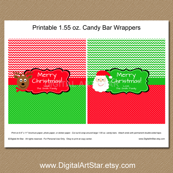personalized Christmas Santa wrappers